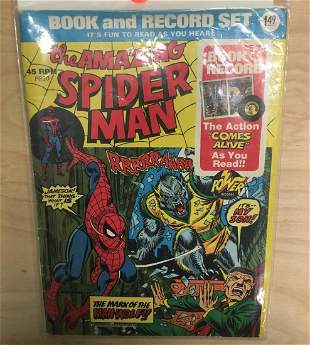 SpiderMan Book Record set from the 1970s complete