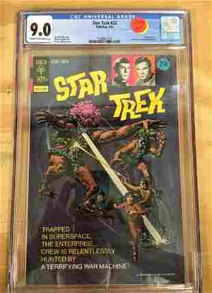 Star Trek 22 Gold Key CGC 90 High Grade Silver