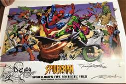 Spider-Man's Five Fantastic Foes w/Marker Drawing of