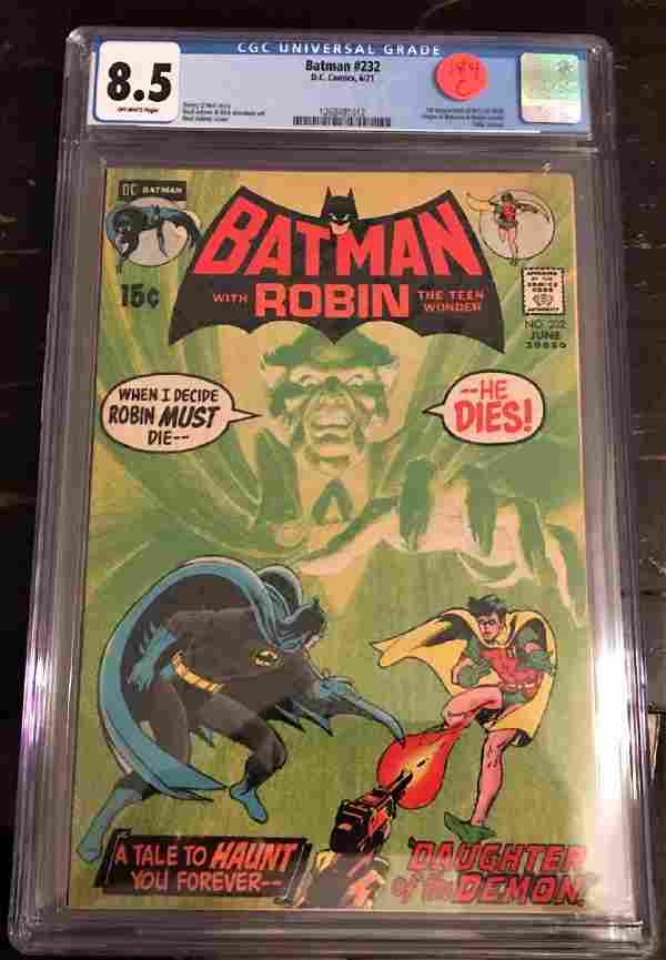 Batman #232 - CGC 8.5 - 1st Ras Al Ghul - MAJOR Key!