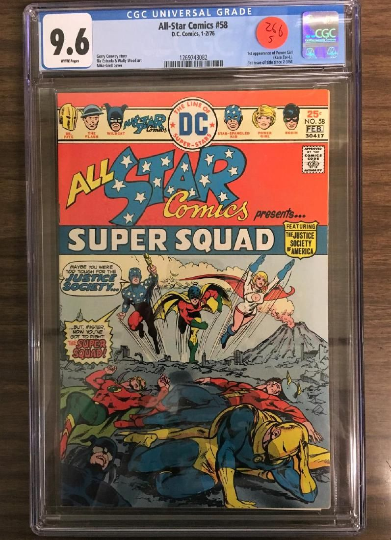 All-Star Comics #58 - CGC 9.6 w/WHITE Pages - 1st POWER
