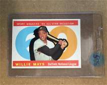 1960 Topps Willie Mays AS - Sharp card!