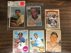 1961 Topps Ernie Banks, 1953 Bowman Color Sal Maglie,
