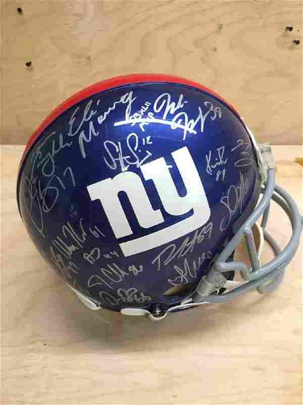 2011 New York Giants Team Signed Football from Steiner