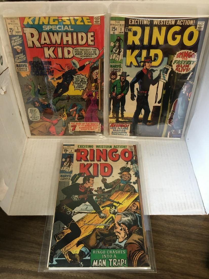 Ringo Kid #1, 2 + Rawhide Kid King Size Special #1 -