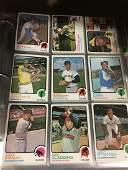 1973 Topps Baseball near set of roughly 500+ cards
