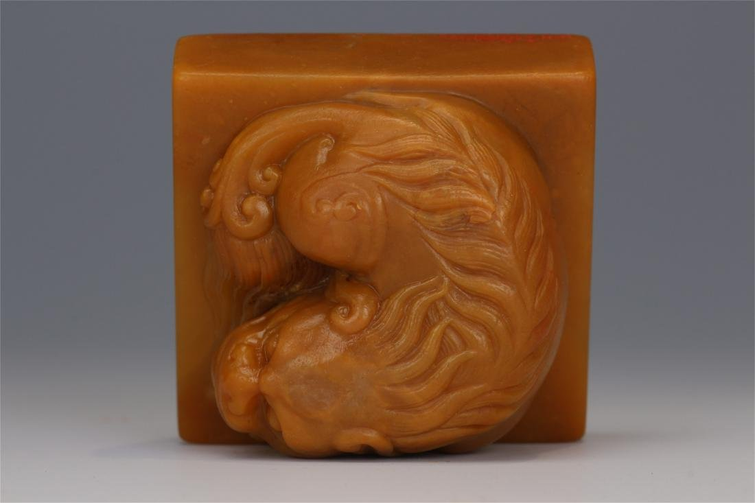 CHINESE TIANHUANG STONE BEAST SEAL - 8