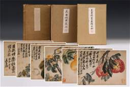 TWO CHINESE ALBUM PAINTING OF FLOWER AND CALLIGRAPHY