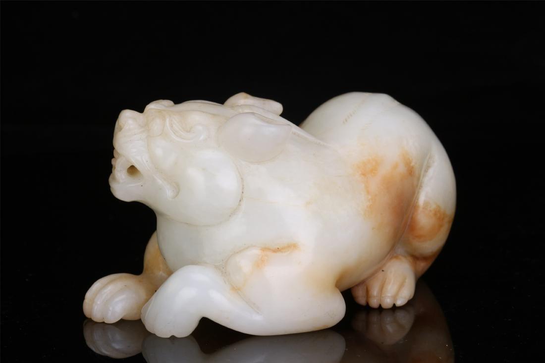 CHINESE WHITE JADE BEAST - 4