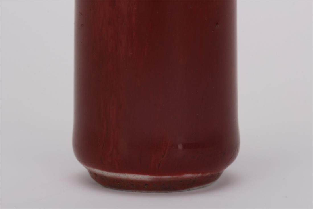CHINESE PORCELAIN RED GLAZE SNUFF BOTTLE - 3