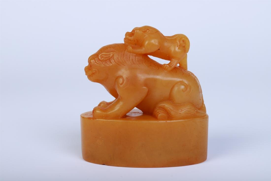 CHINESE TIANHUANG STONE BEAST SEAL - 2