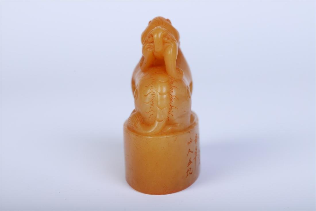 CHINESE TIANHUANG STONE BEAST SEAL - 3