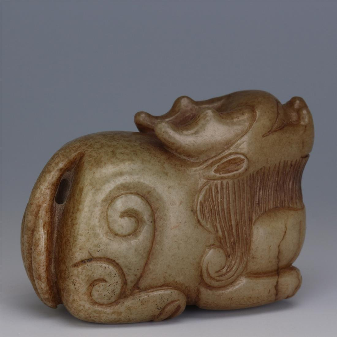 CHINESE ANCIENT JADE BEAST