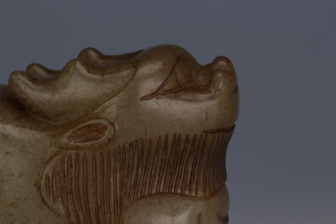 CHINESE ANCIENT JADE BEAST - 3