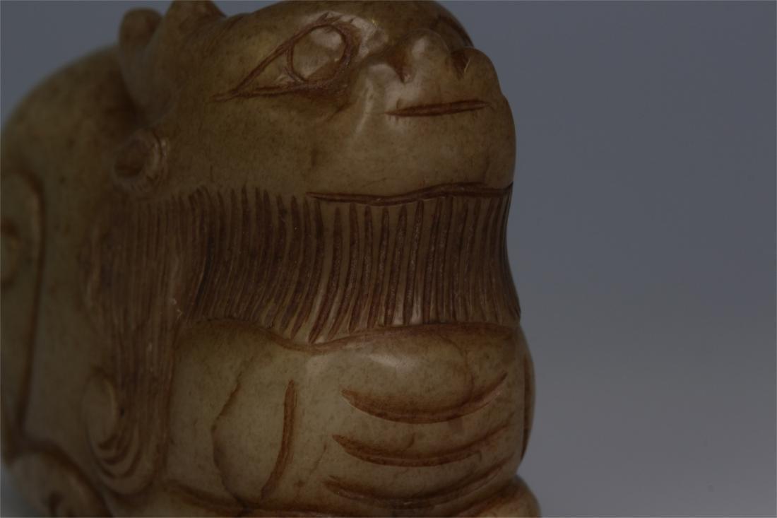 CHINESE ANCIENT JADE BEAST - 5