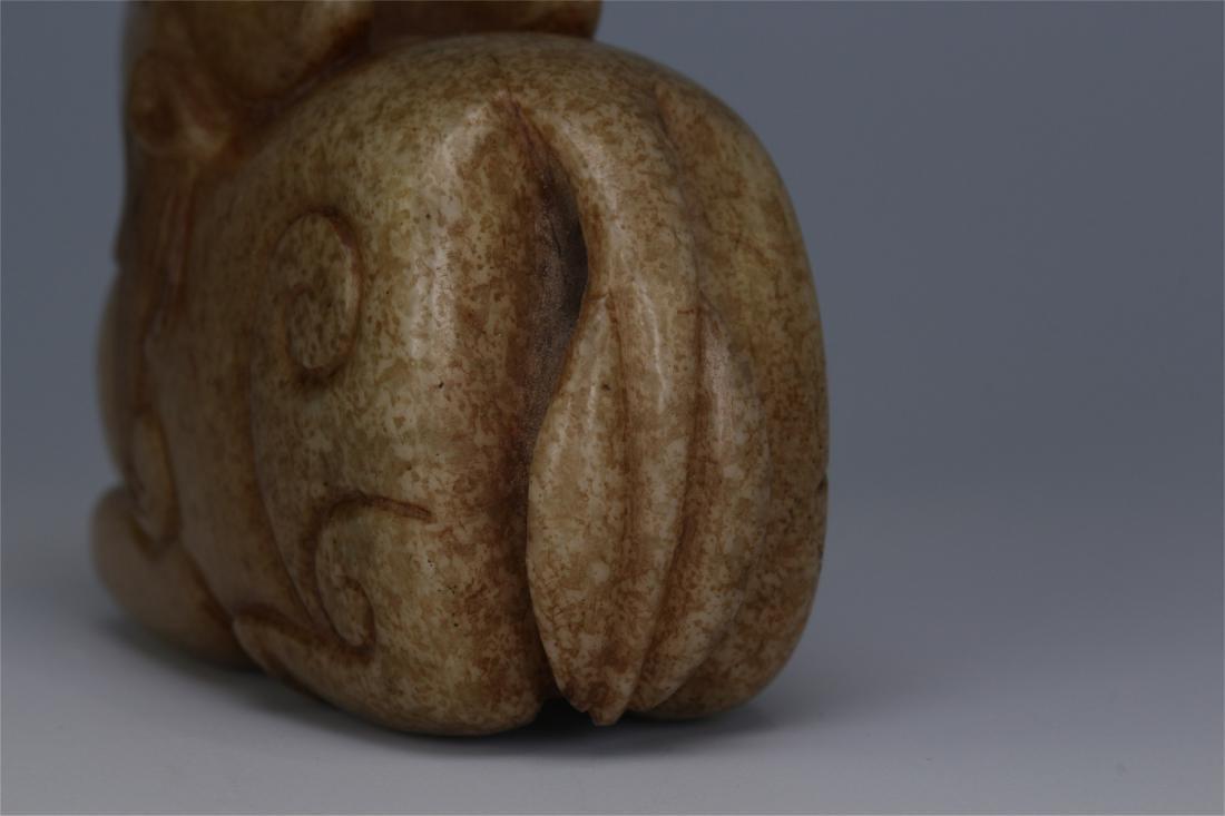 CHINESE ANCIENT JADE BEAST - 8