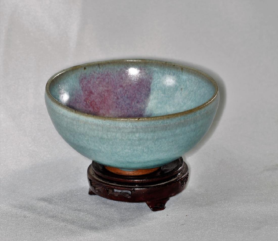 Chinese Song Dynasty Jun yao bowl with purple splashes