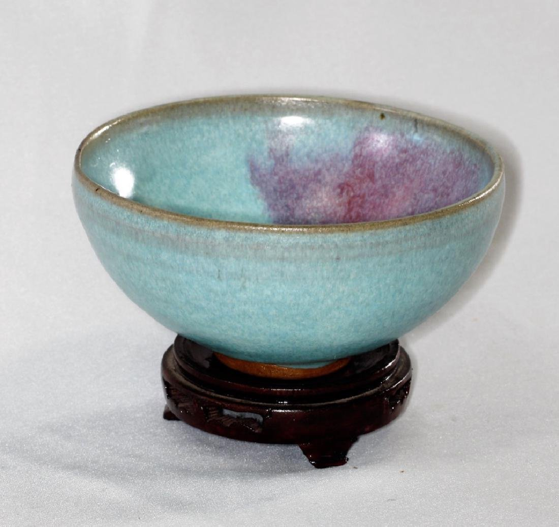 Chinese Song Dynasty Jun yao bowl with purple splashes - 3