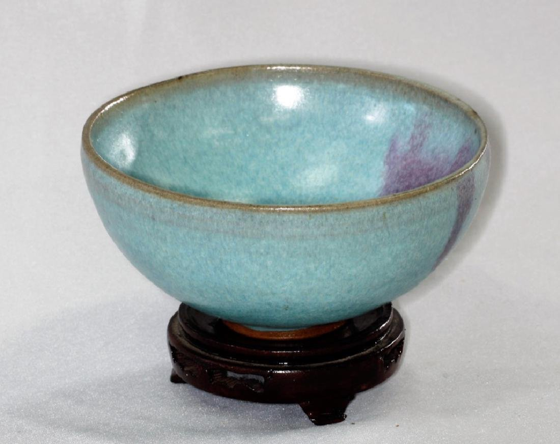Chinese Song Dynasty Jun yao bowl with purple splashes - 4