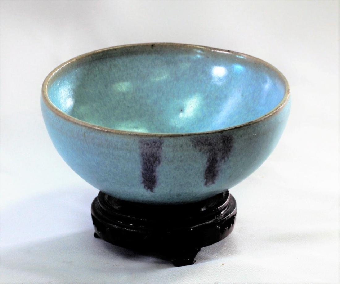 Chinese Song Dynasty Jun yao bowl with purple splashes - 5