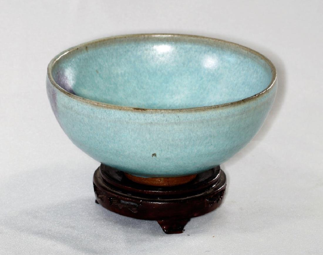 Chinese Song Dynasty Jun yao bowl with purple splashes - 6