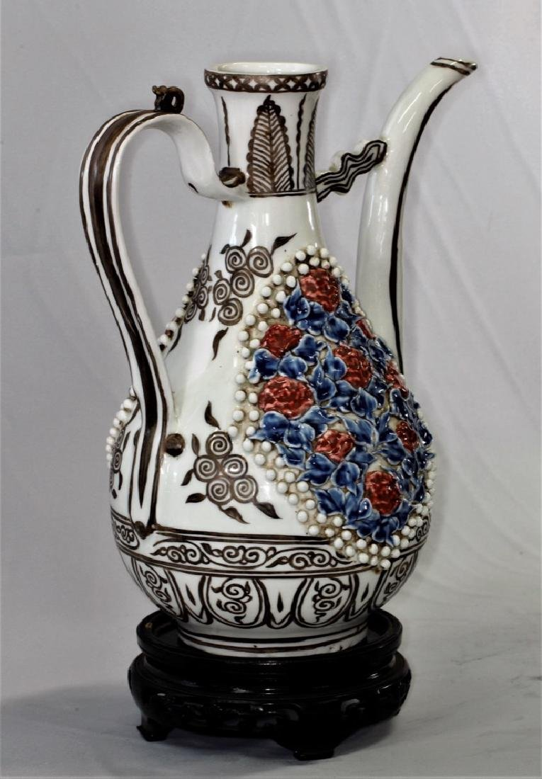 Chinese Yuan Dynasty Ewer with Long Spout - 5