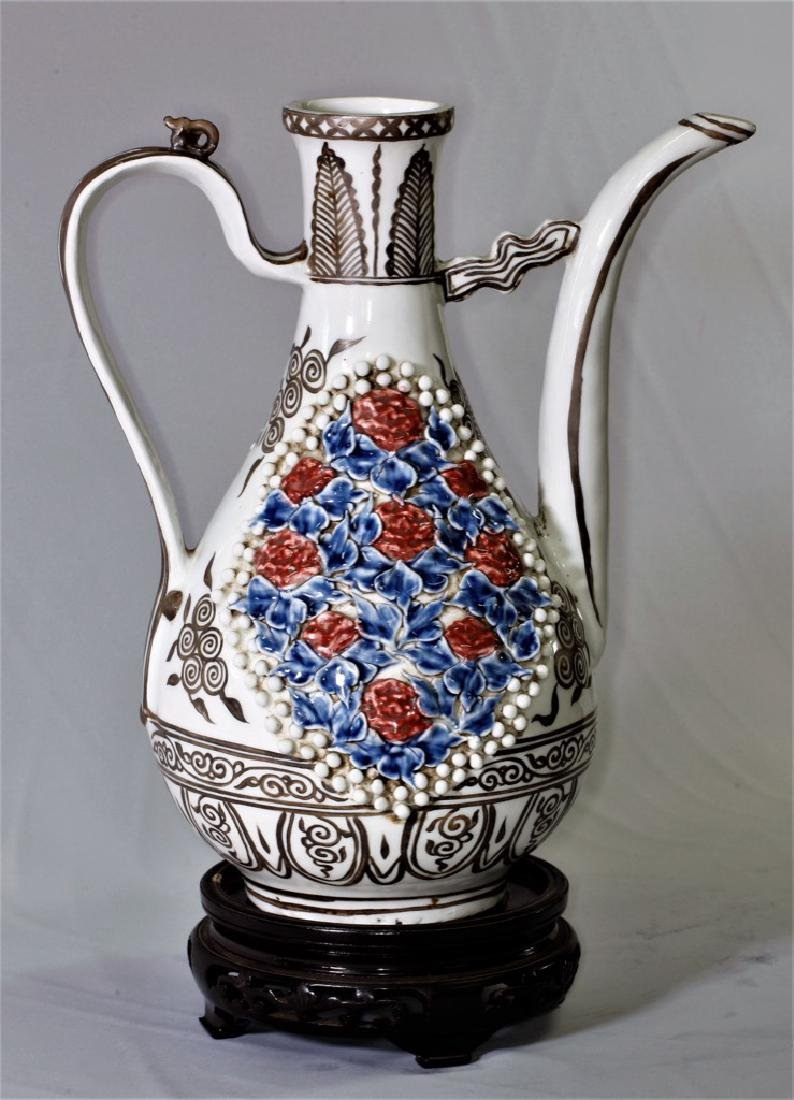 Chinese Yuan Dynasty Ewer with Long Spout - 6