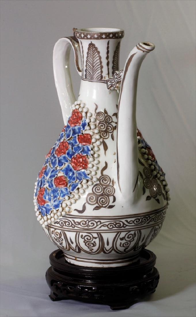 Chinese Yuan Dynasty Ewer with Long Spout - 7