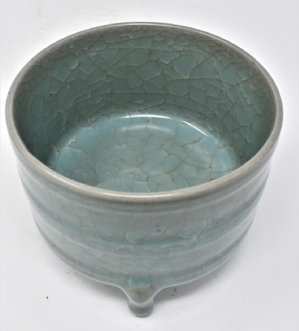 Chinese Song Dynasty RuYao Cylindrical Censer - 10