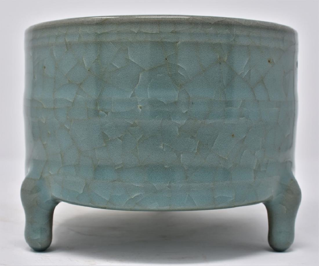 Chinese Song Dynasty RuYao Cylindrical Censer