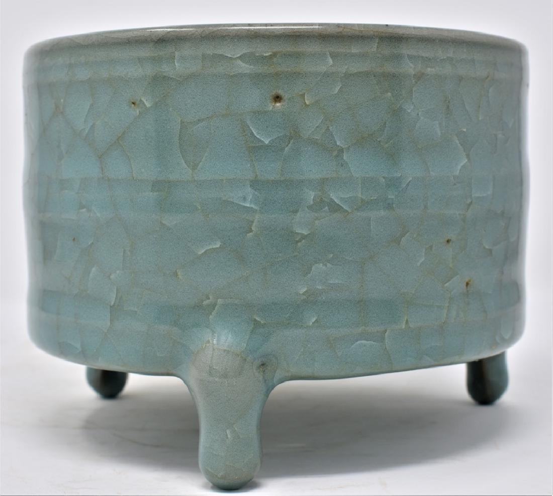 Chinese Song Dynasty RuYao Cylindrical Censer - 2