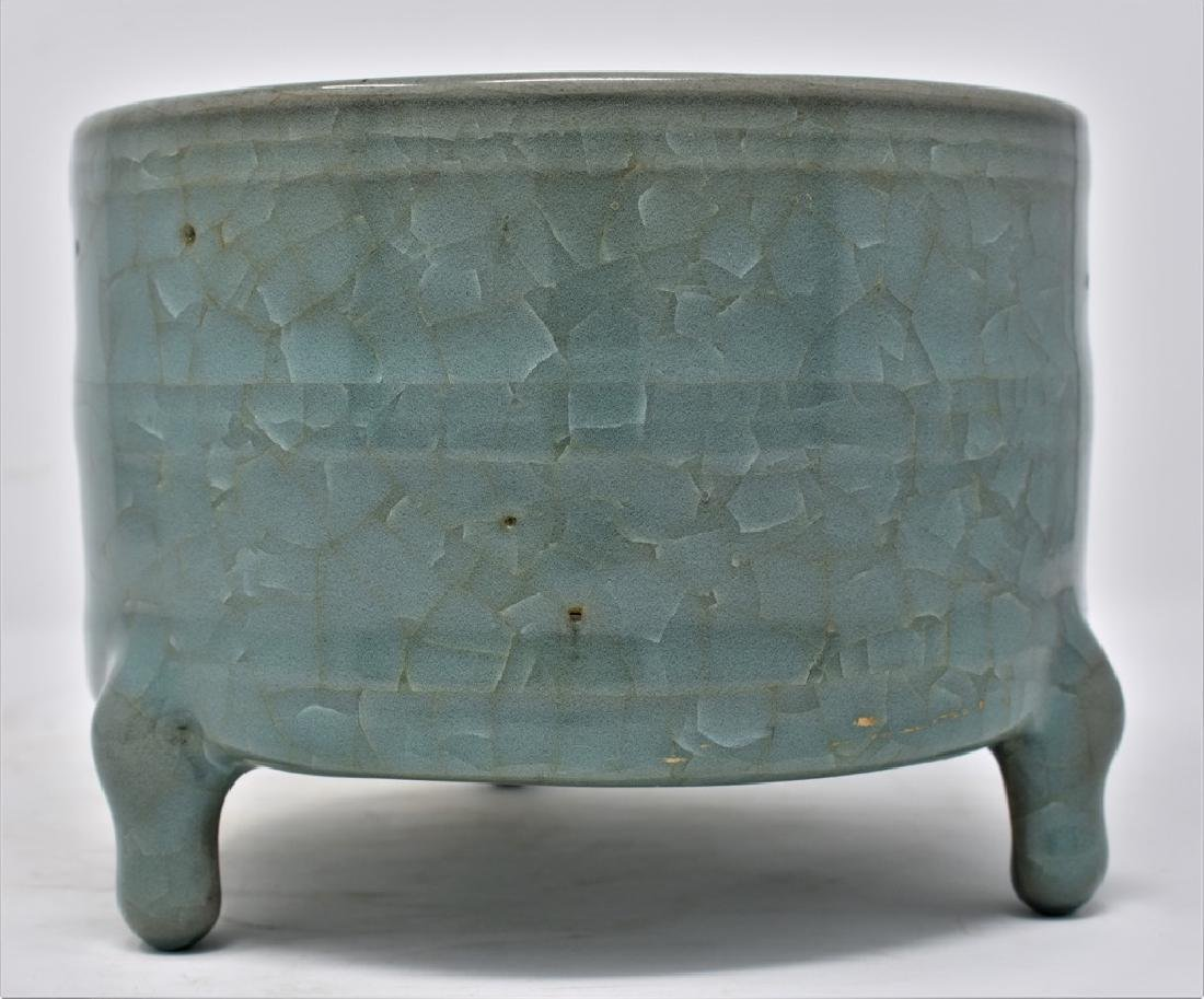 Chinese Song Dynasty RuYao Cylindrical Censer - 3
