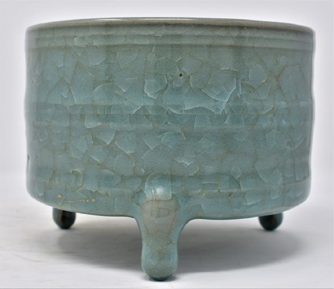 Chinese Song Dynasty RuYao Cylindrical Censer - 4
