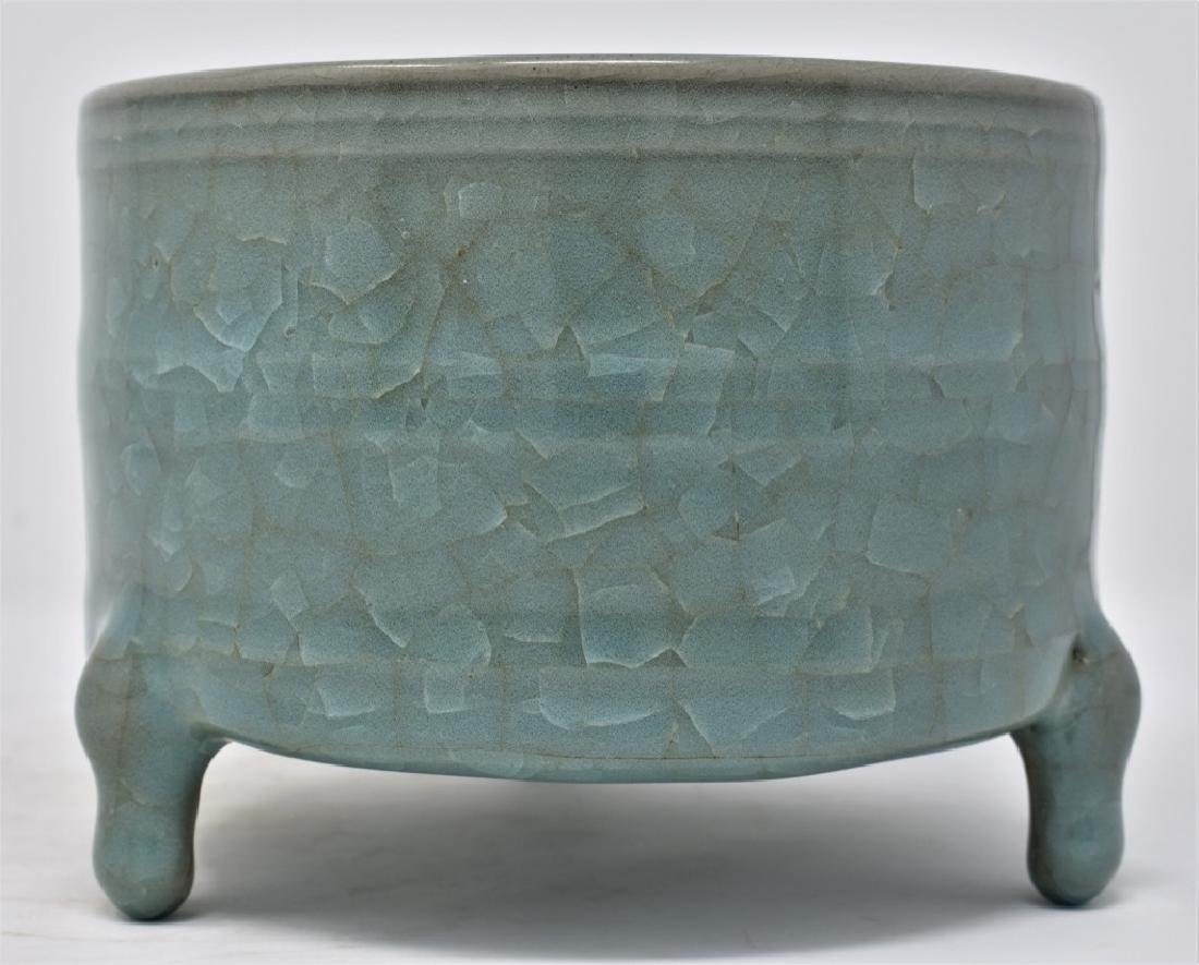 Chinese Song Dynasty RuYao Cylindrical Censer - 5