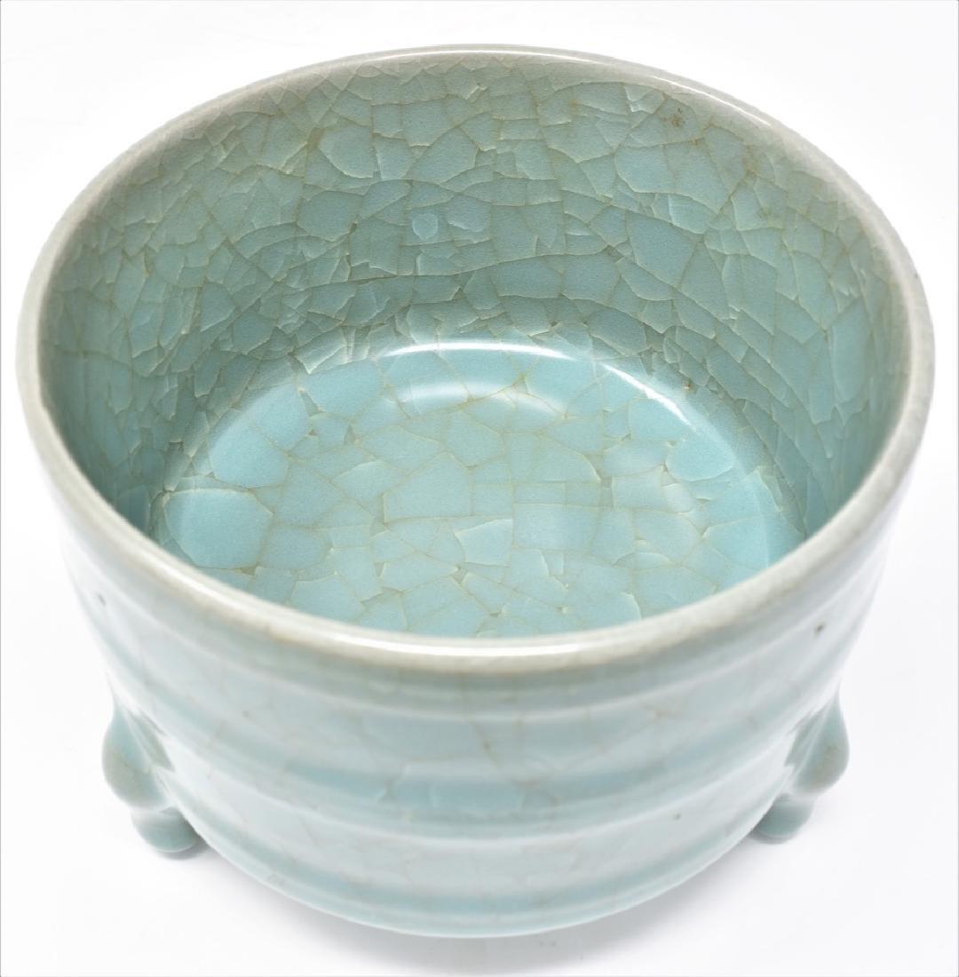 Chinese Song Dynasty RuYao Cylindrical Censer - 8