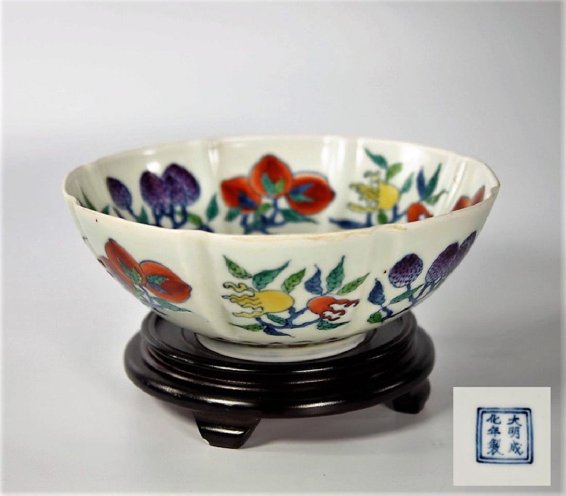 Chinese Ming Dynasty Doucai porcelain bowl
