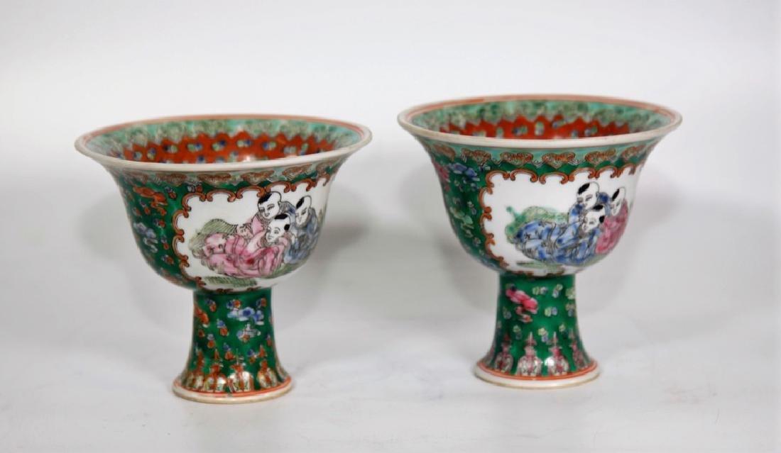 Pair of Chinese Ming Dynasty Wanli Wucai porcelain bowl - 4