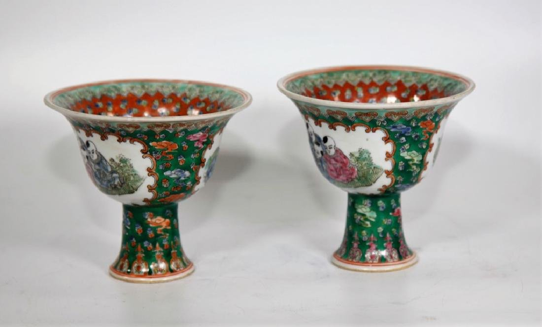 Pair of Chinese Ming Dynasty Wanli Wucai porcelain bowl - 5