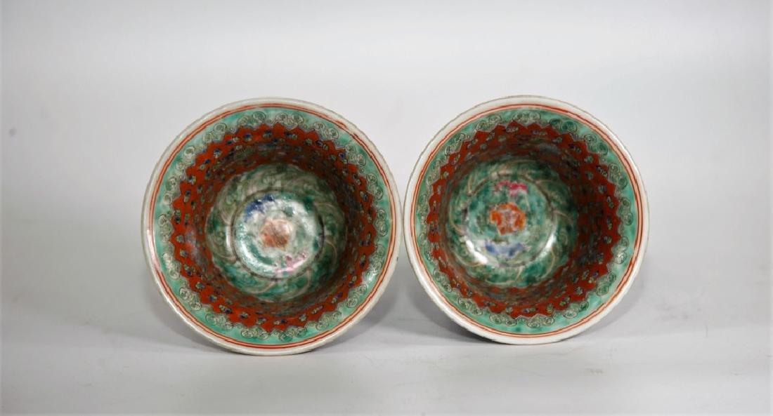 Pair of Chinese Ming Dynasty Wanli Wucai porcelain bowl - 6