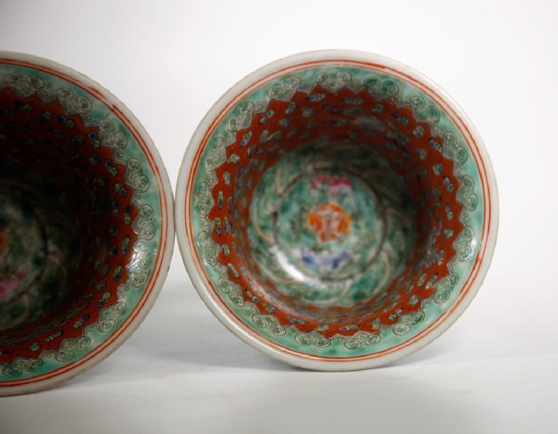 Pair of Chinese Ming Dynasty Wanli Wucai porcelain bowl - 8