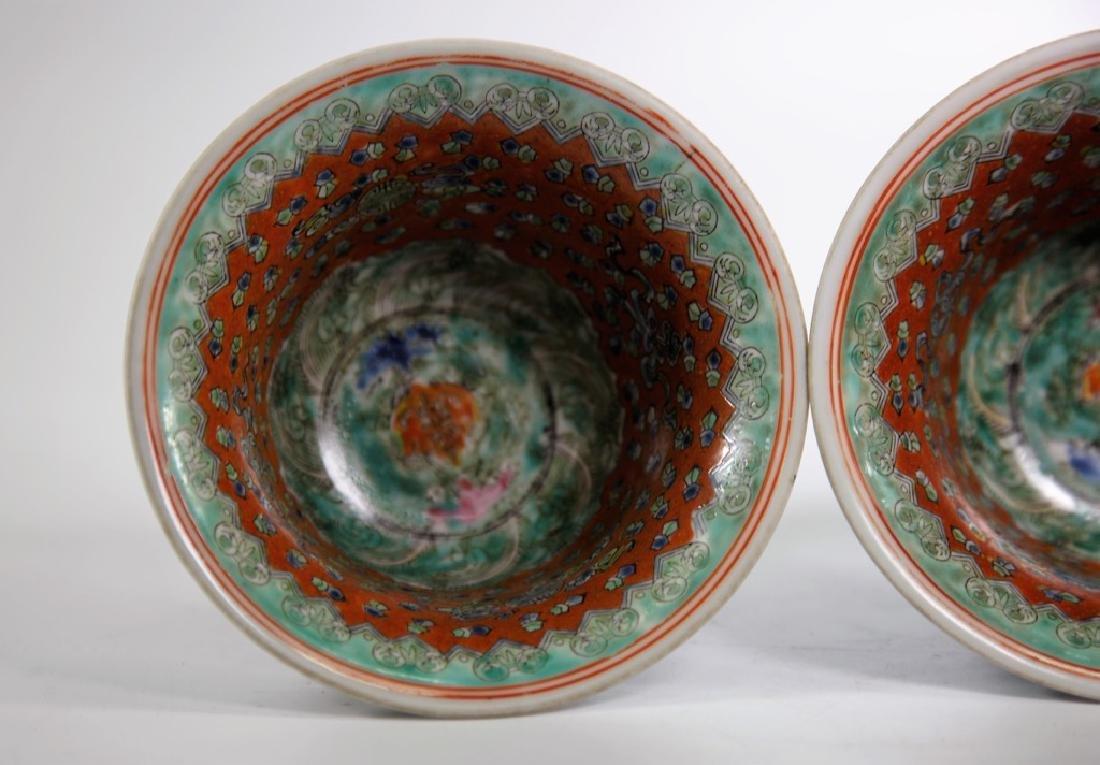 Pair of Chinese Ming Dynasty Wanli Wucai porcelain bowl - 9
