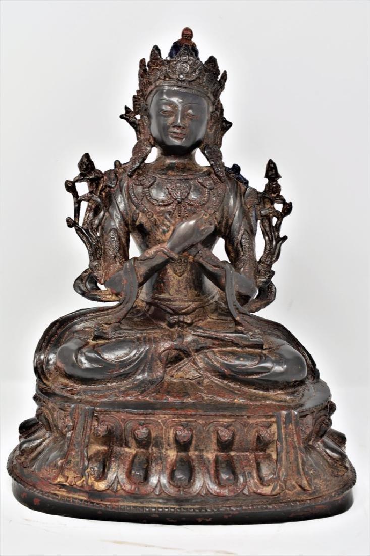 Chinese Ming Dynasty Gilt Bronze Seated buddha