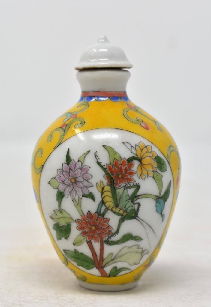 Chinese Qing Dynasty Enameled Snuff Bottle
