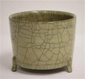 Chinese Song style Ge Yao crackleware tripod censer