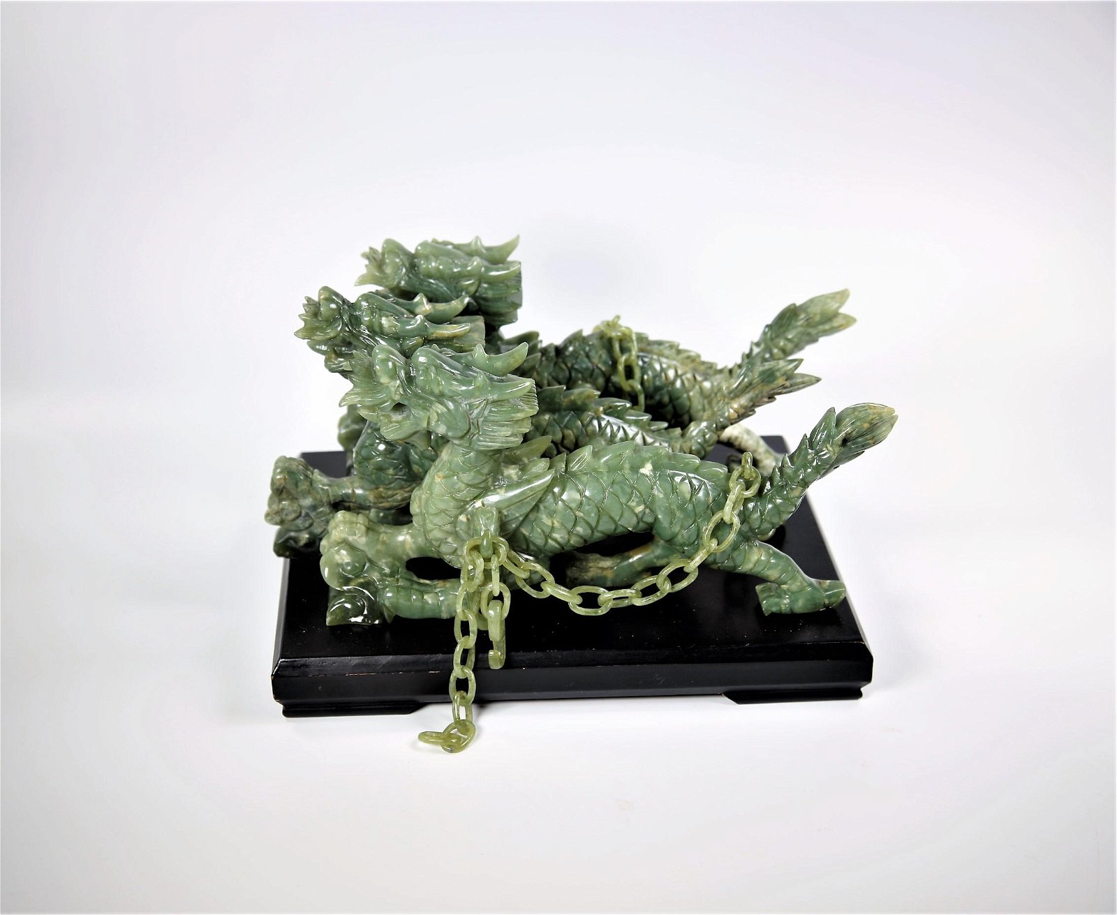 Large Chinese Jade Carving Dragon Group