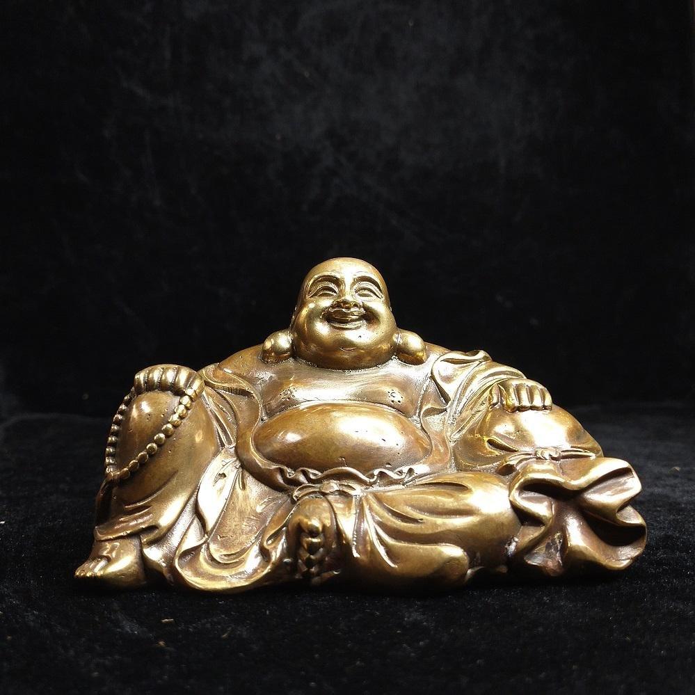 Chinese Qing dynasty gilt bronze  Maitreya Buddha