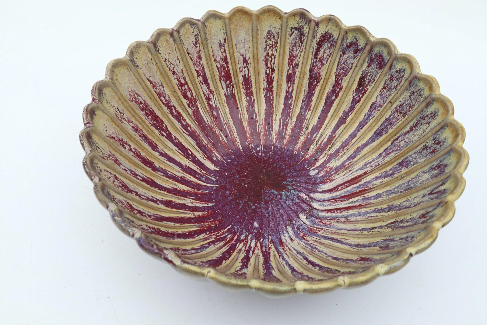Chinese Song Dynasty Jun yao Chrysanthemum Style Bowl