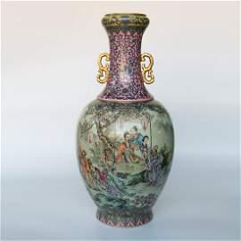 Chinese Qing Dynasty Qianlong Enamel Glazed Porcelain