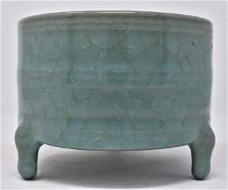 Chinese Northern Song  RuYao Cylindrical Censer