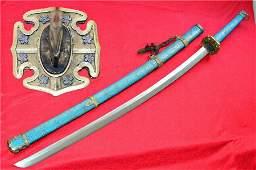 Japanese Sword Samurai Katana Sharp Damascus Steel